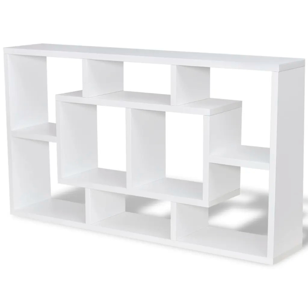 Display Wall Cabinets White Shelves