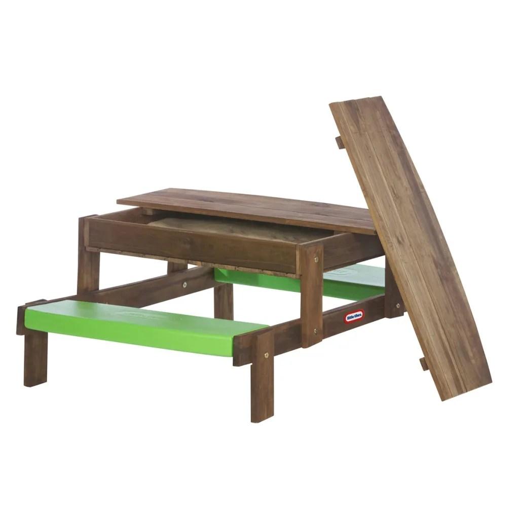 Vidaxl Co Uk Little Tikes Lt 2 In 1 Wooden Picnic Table