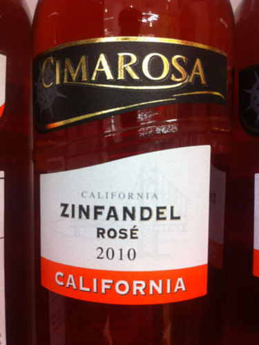 Cimarosa Zinfandel Ros 233 2010 Wine Info
