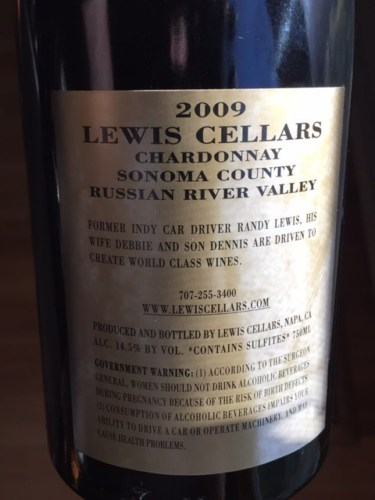 2009 Lewis Cellars Cabernet