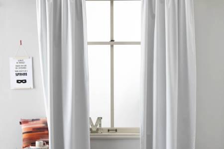 Huis Bouwen Inspiratie 2018 » verduisterende gordijnen wit kant en ...