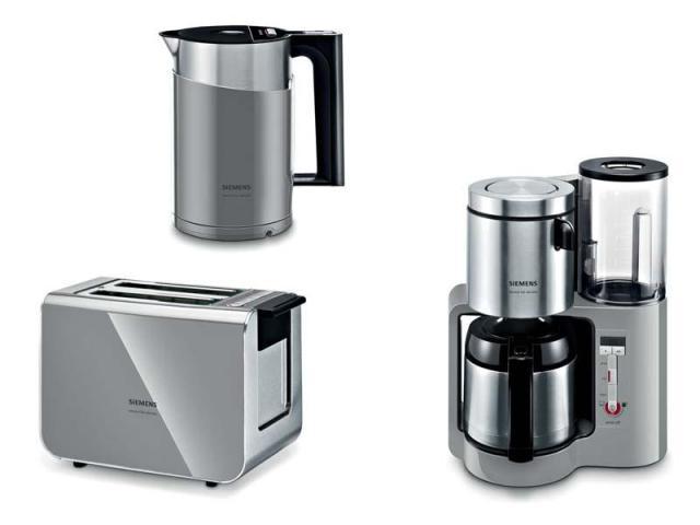 Siemens Frühstücks-Set grau [Wasserkocher + Kaffeemaschine ...