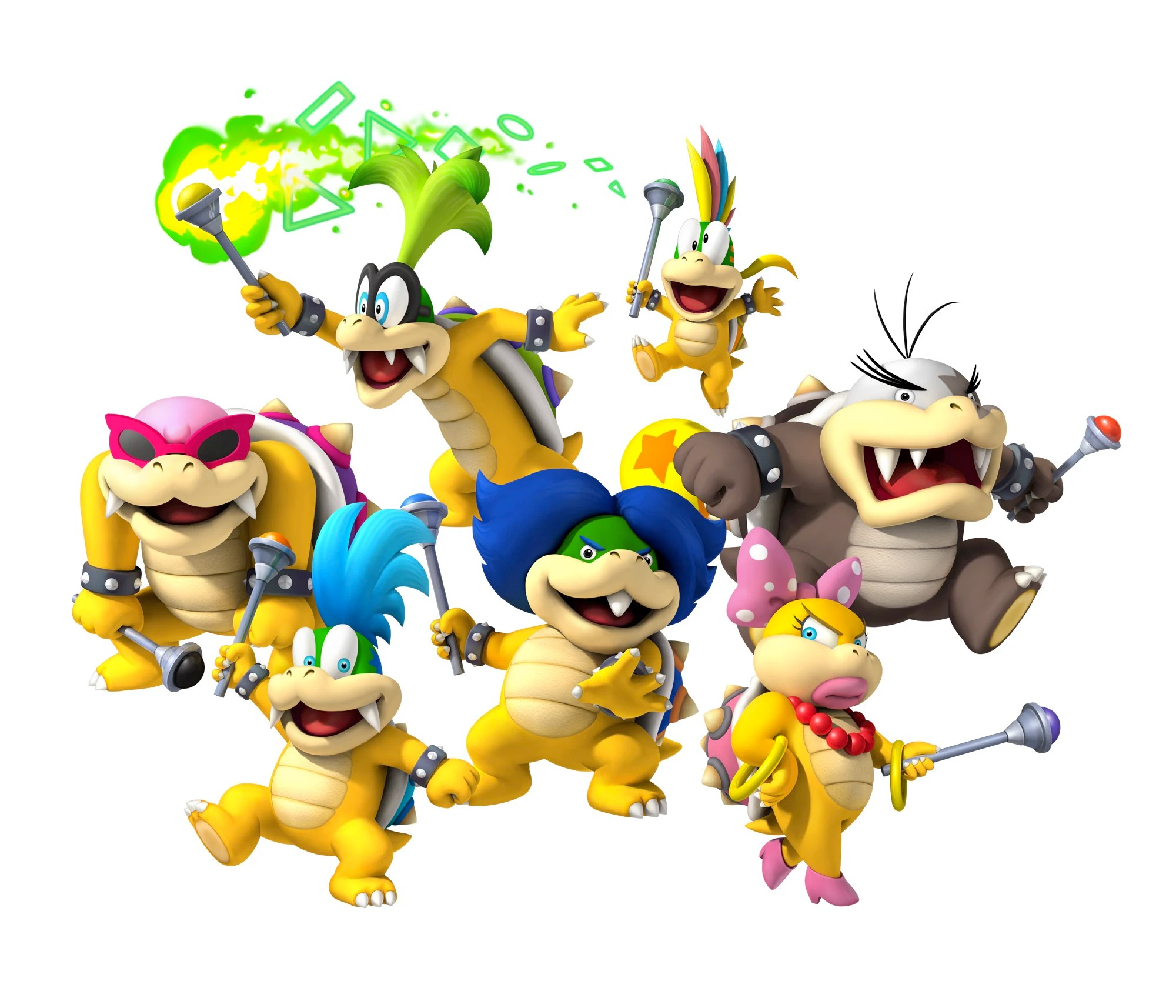 Super Mario Bros Wii Bowsers Family