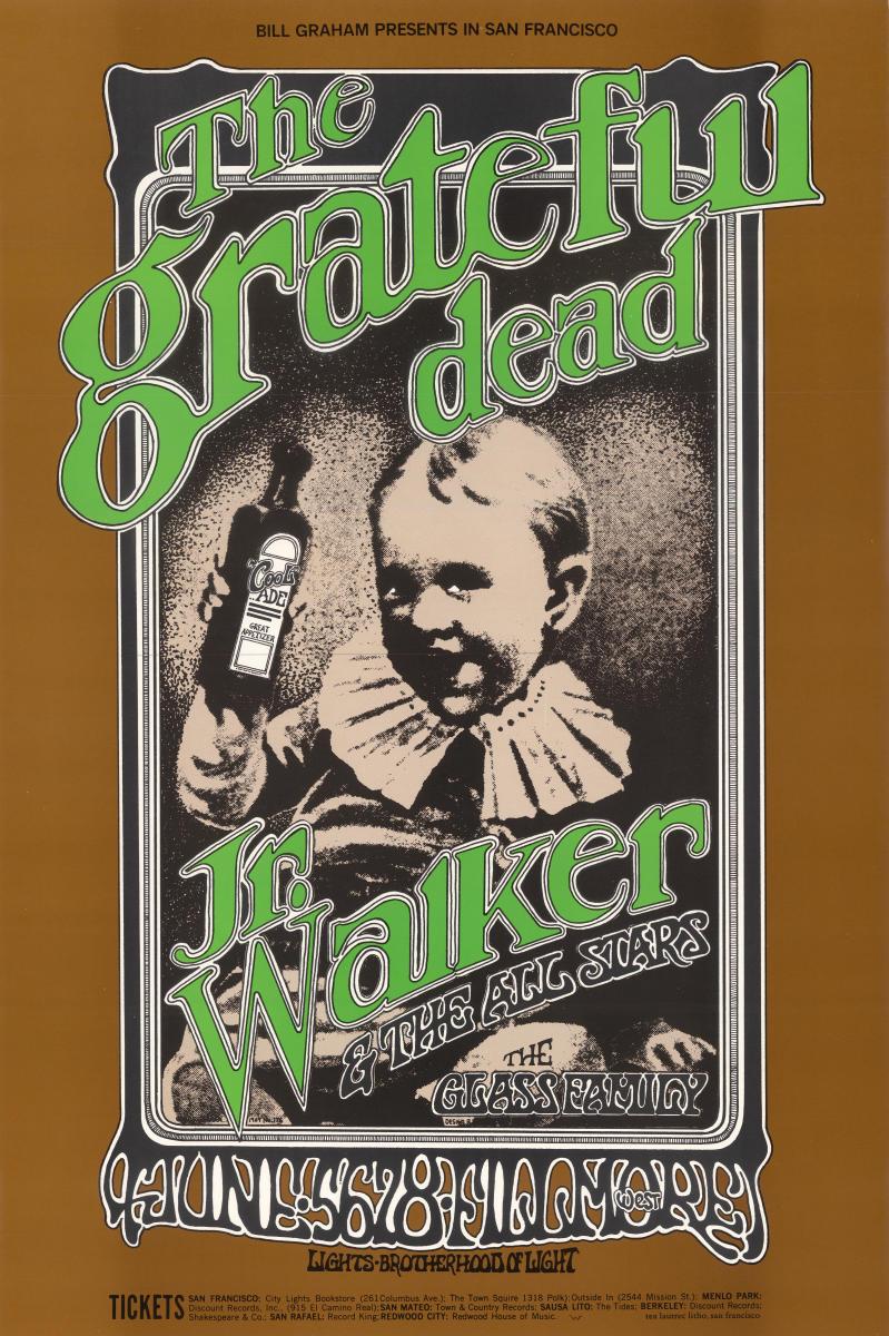 Grateful Dead Vintage Concert Poster From Fillmore West