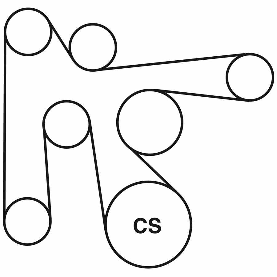 1998 dodge caravan belt routing diagram