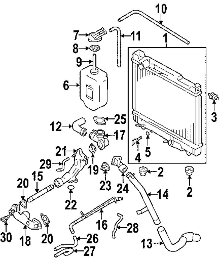 Genuine suzuki radiator assy bushing suz 1477048700