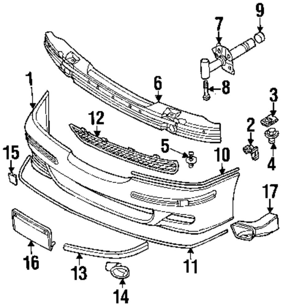 Genuine bmw corner molding bmw 51112494193