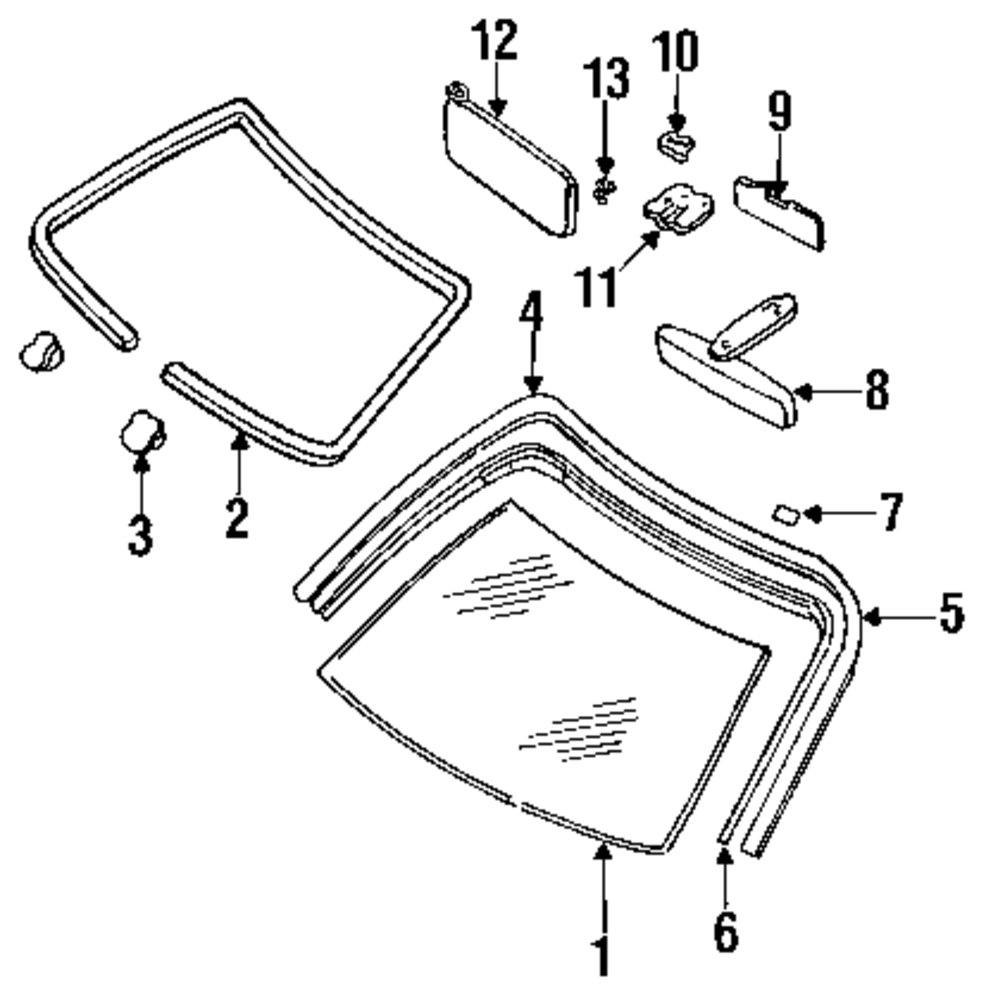 Genuine infiniti molding clip inf 7279668u04