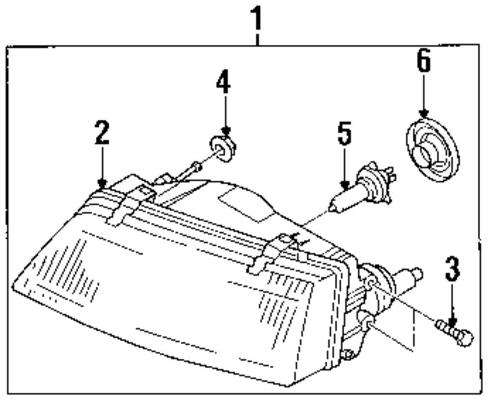 Genuine infiniti headl assy screw inf 0143601191