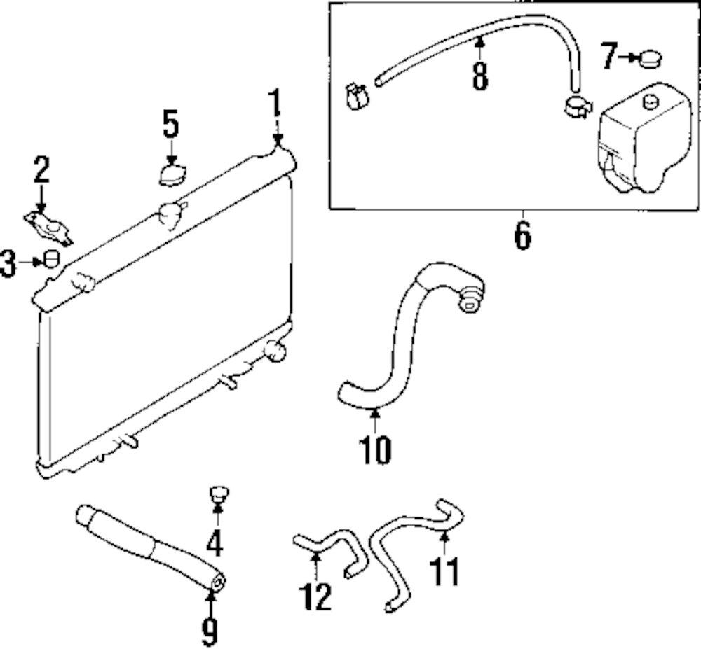 Genuine infiniti radiator mount cushion inf 215071e400