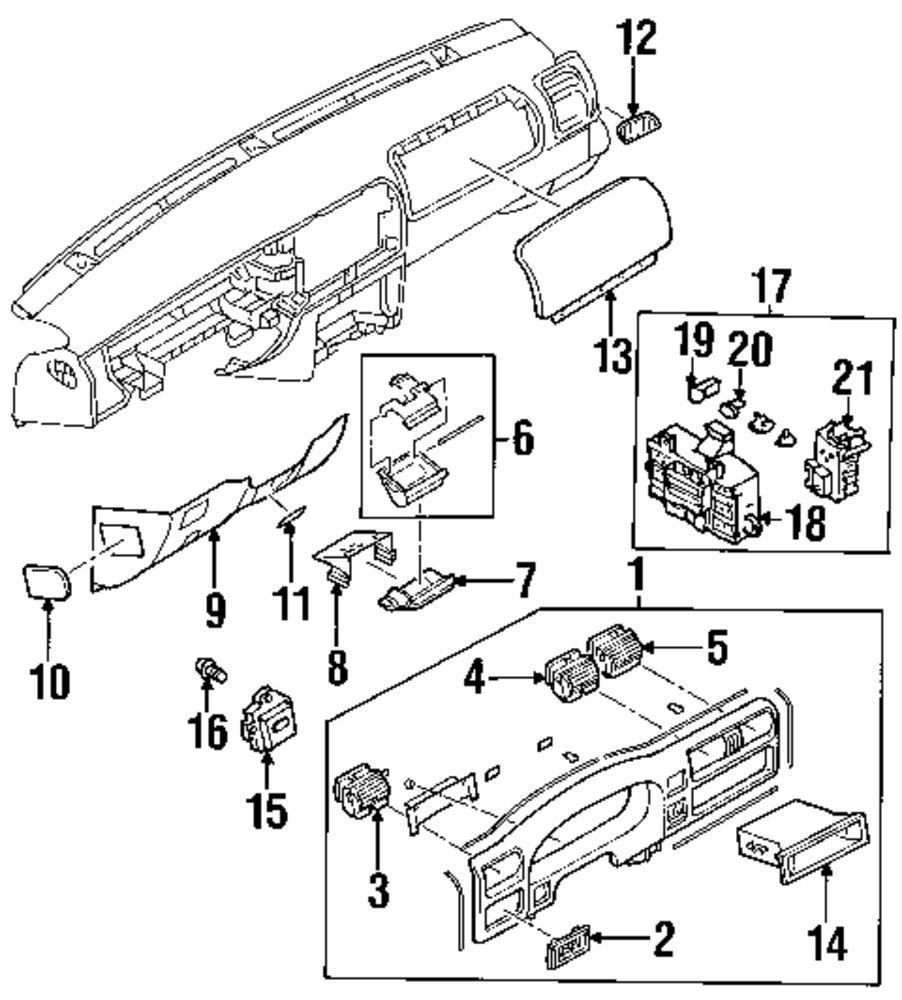 Genuine honda fuse box cover hon 8972915551