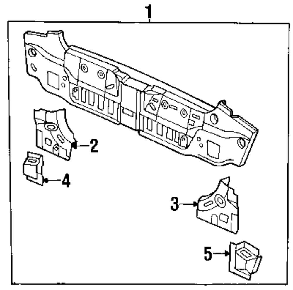 Genuine isuzu rear body panel gusset isu 5862034180
