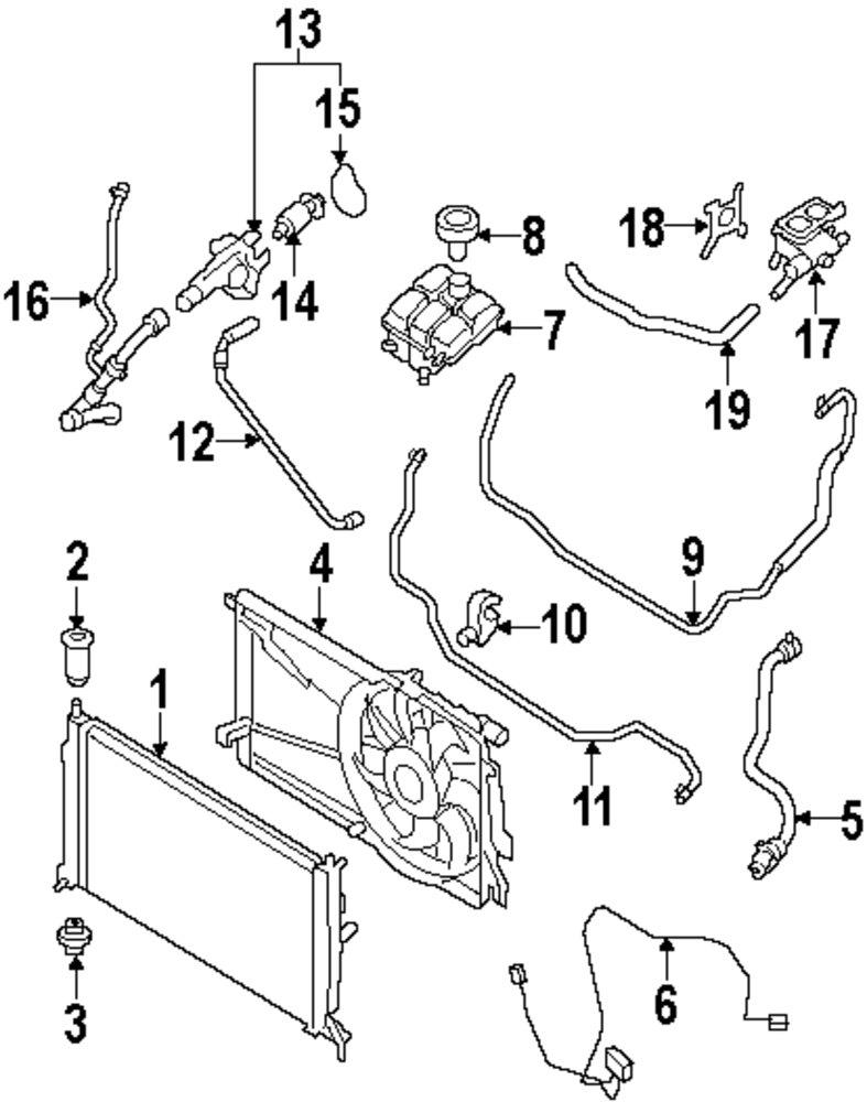 Genuine mazda radiator upper bracket maz z60115240f