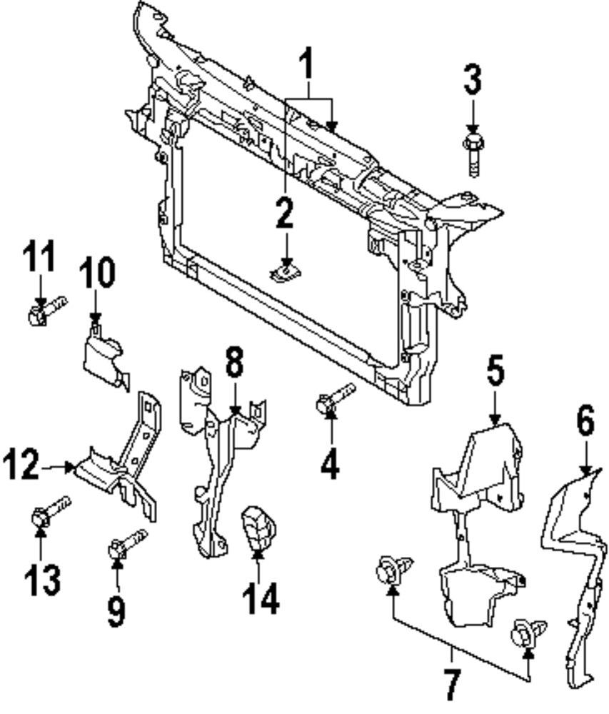 Genuine mazda lock support hole cover maz l20656078