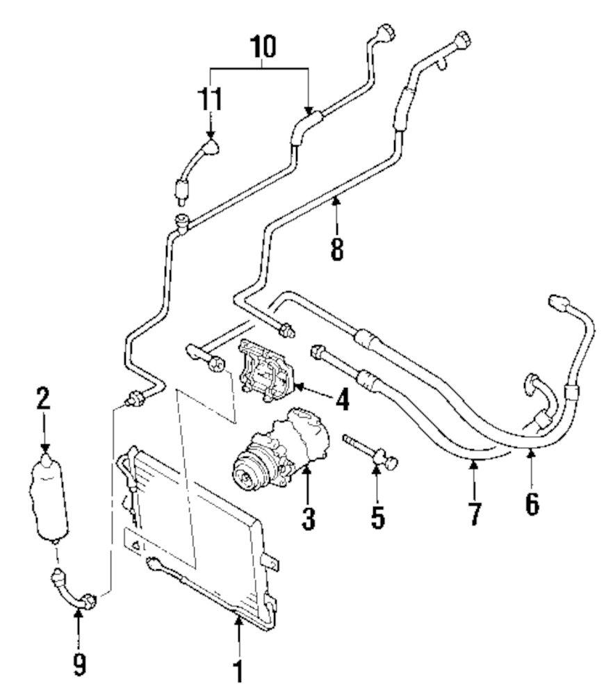 Genuine mazda pressor bracket maz bp6f15810a