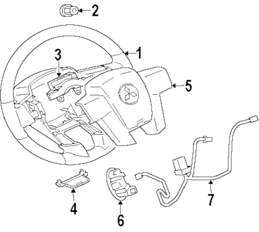 Genuine mitsubishi steering wheel mit 4400a337xa