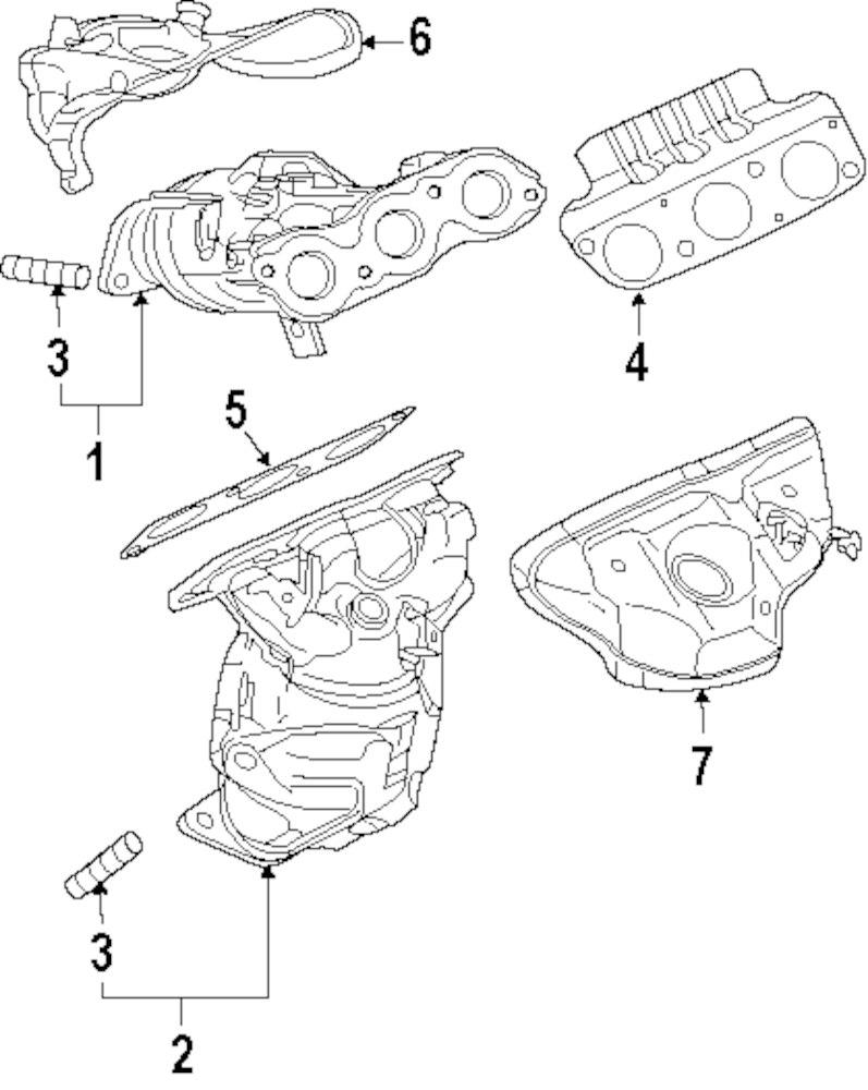 Genuine mitsubishi exhaust manifold stud mit mn128657