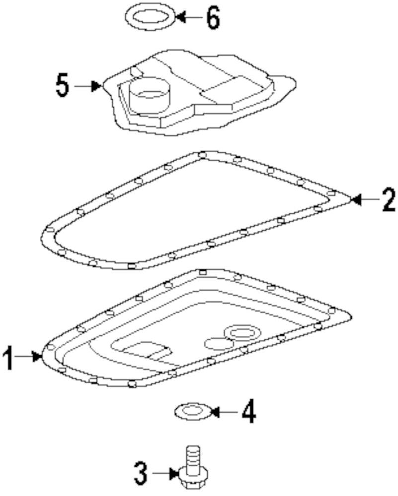 Genuine mitsubishi filter o ring mit 2824a005