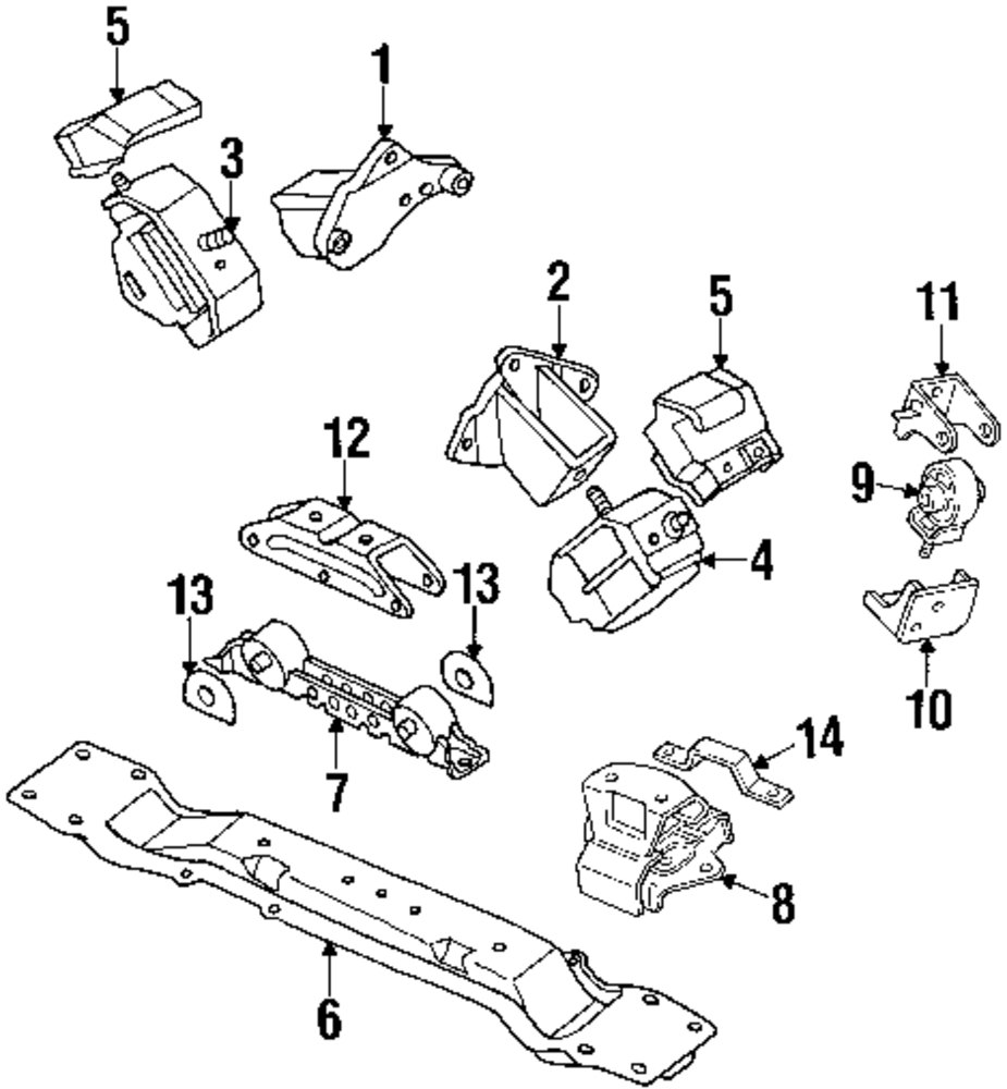 Genuine mitsubishi rear mount stopper mit mb581856