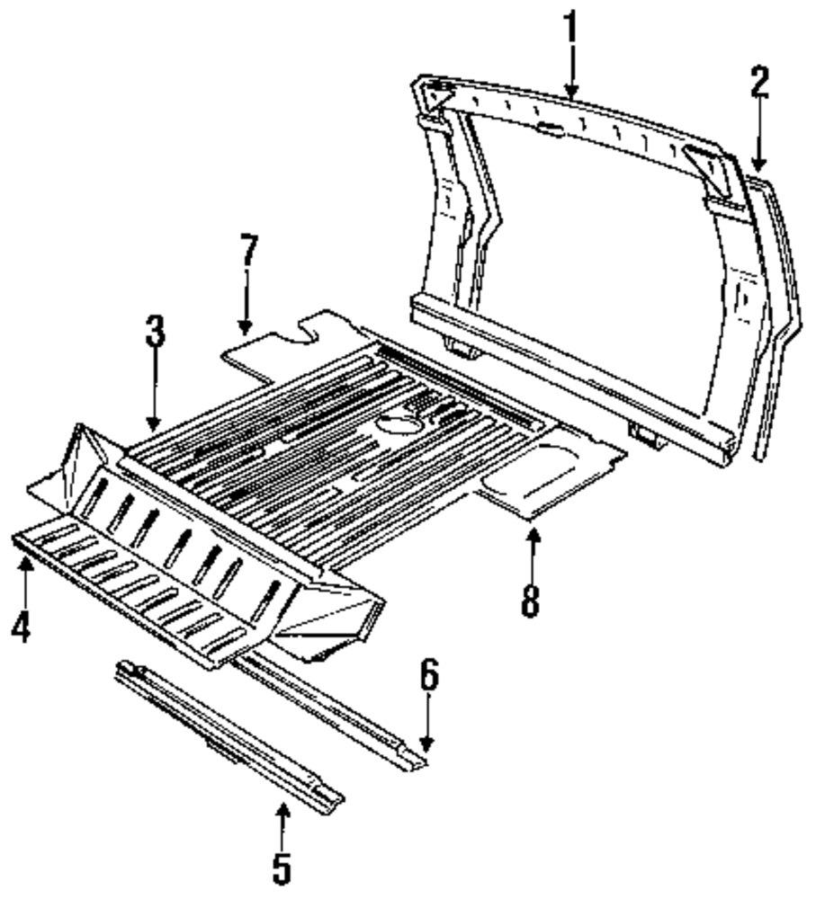 Genuine land rover rear floor pan ran alr5110