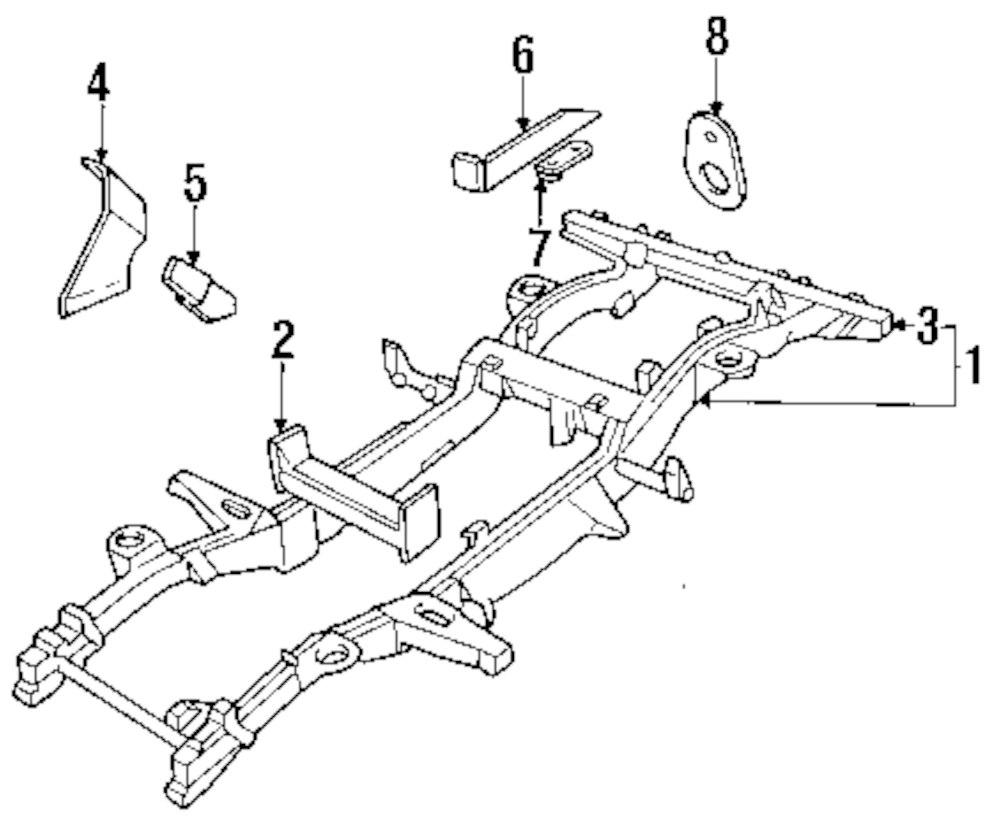 Genuine land rover support plate ran sru500230