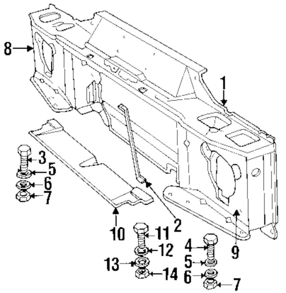 Genuine land rover radiator support bolt ran 255206