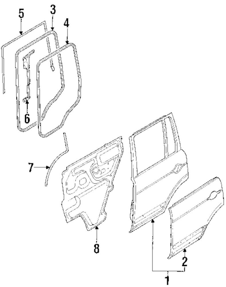 Genuine land rover door shell ran lr018599