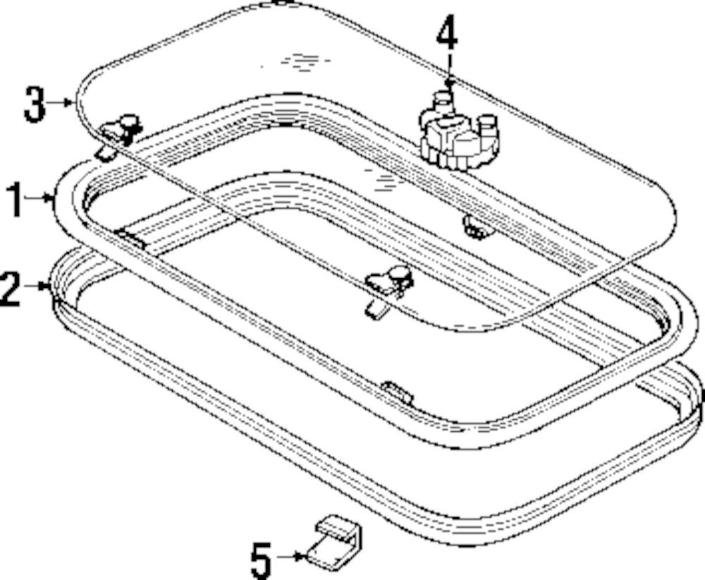 Genuine land rover sunroof trim clip ran alr2386