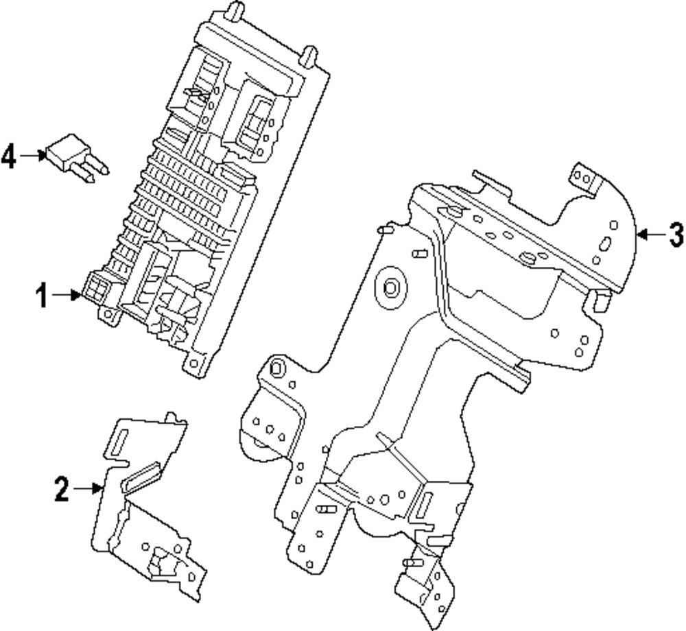 Genuine land rover fuse box bracket ran lr031210