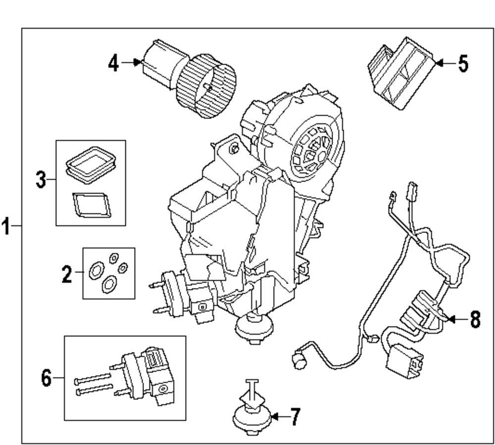 Genuine land rover ac heater assy gasket set ran lr066298