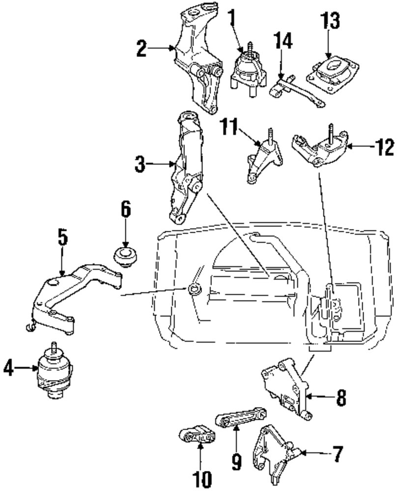 2002 saab 9 5 engine and trans mounting parts mopardirectparts 2005 saab 9 3 engine diagram 2002 saab engine diagram