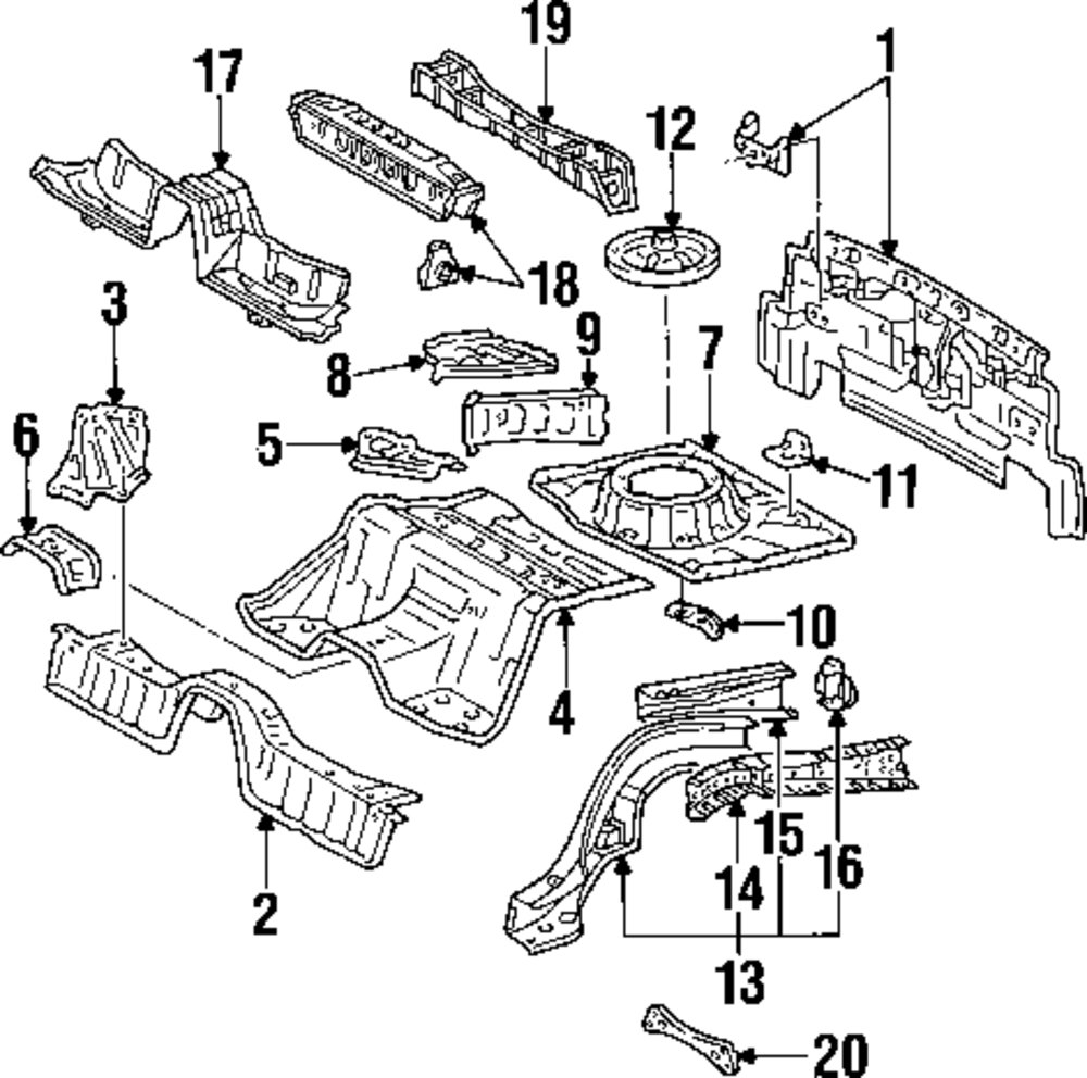 Buy rear body and floor parts for corolla toyota supra vehicle 8494530 supra toyota supra engine parts diagram toyota supra engine parts diagram