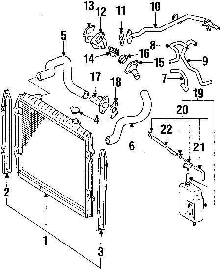 Genuine toyota reservoir hose toy 164720c021