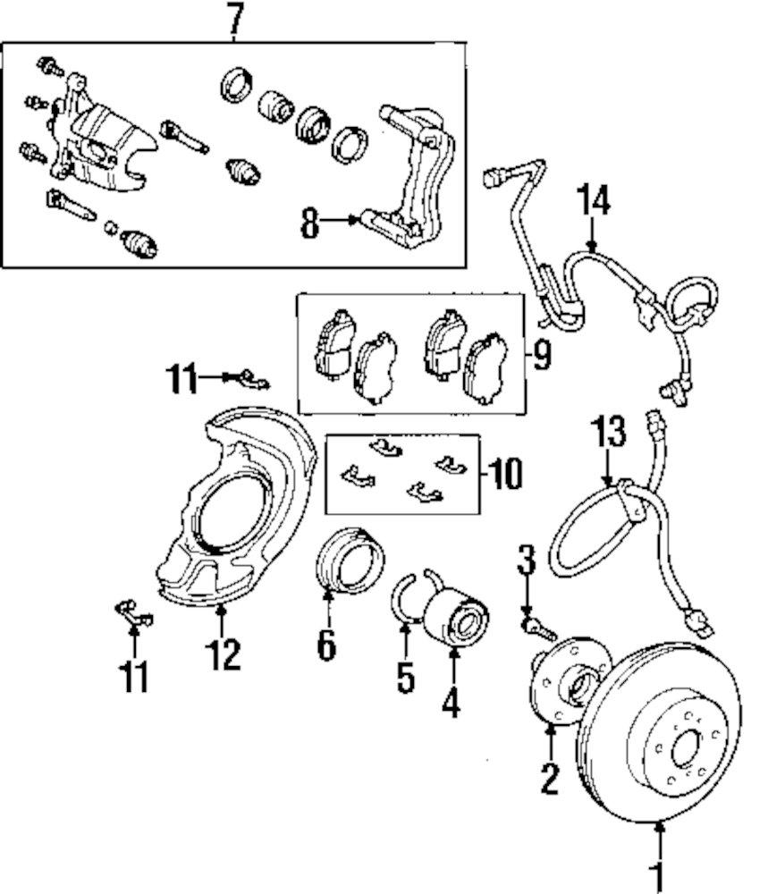 Genuine lexus brake pads clip lex 0494748030