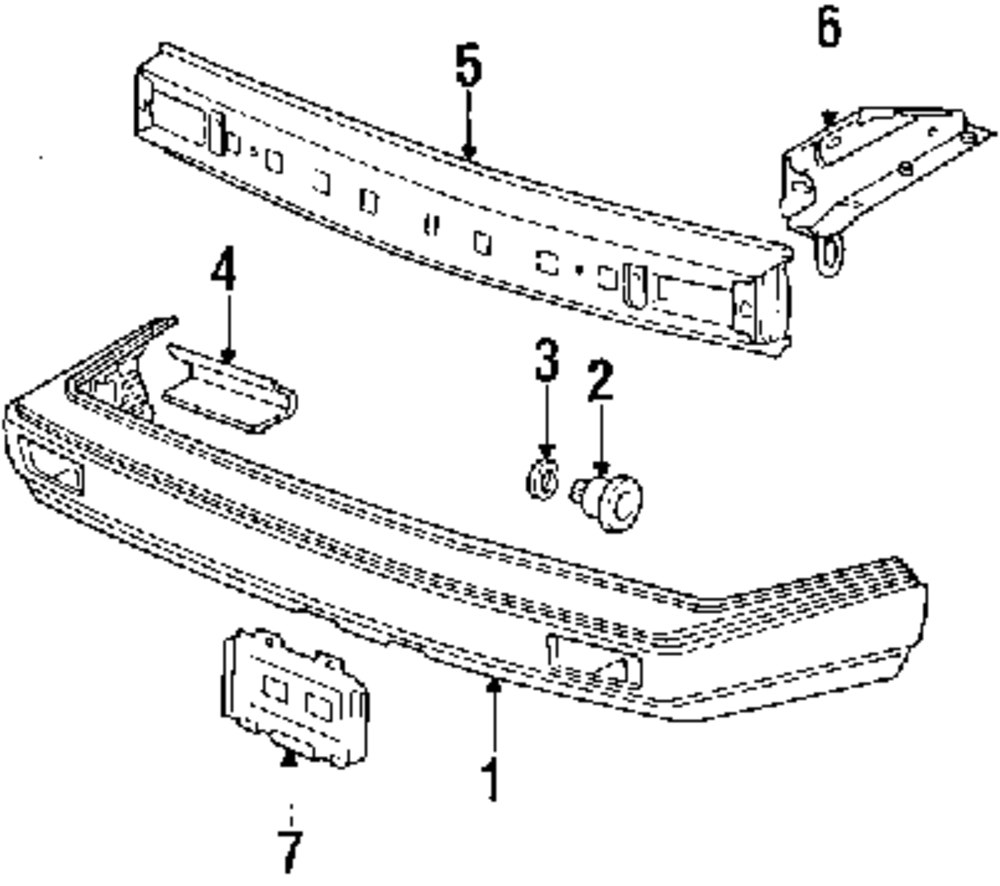 Genuine volkswagen bumper cover vwg 165807217dgd6