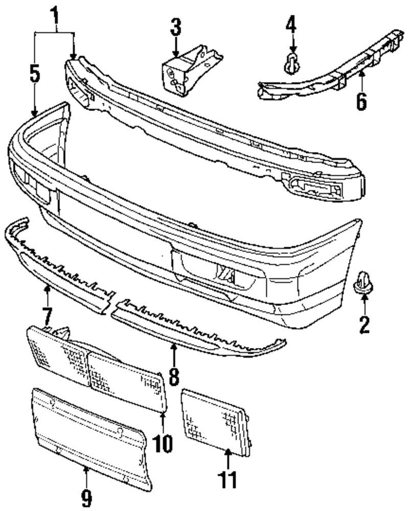Genuine volkswagen bumper assy bracket vwg 3a0807134d