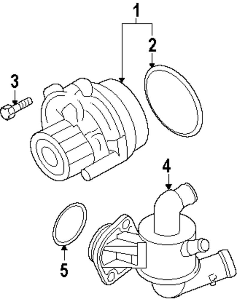 Genuine volkswagen water pump assy gasket vwg 038121119