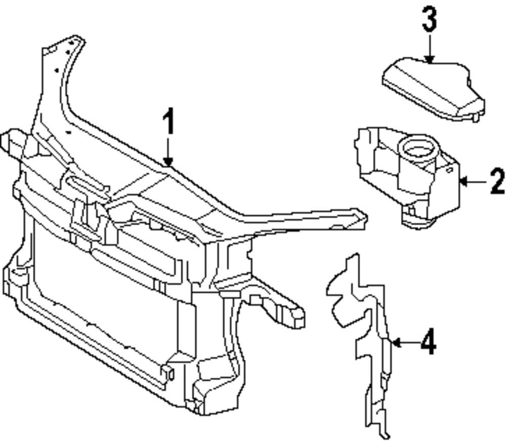 Genuine volkswagen radiator support vwg 1k0805588n