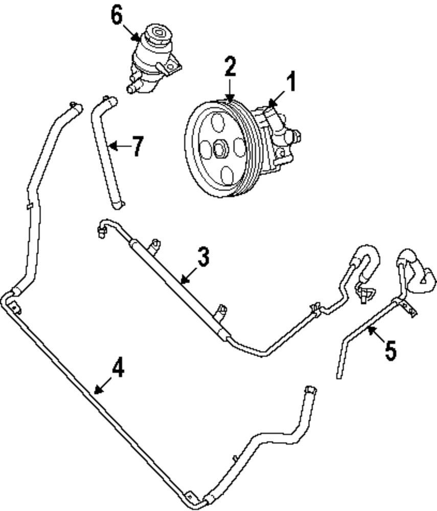 Genuine volkswagen reservoir hose vwg 7b0422887