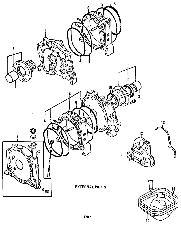 Genuine mazda overhaul gasket set maz 8df510271