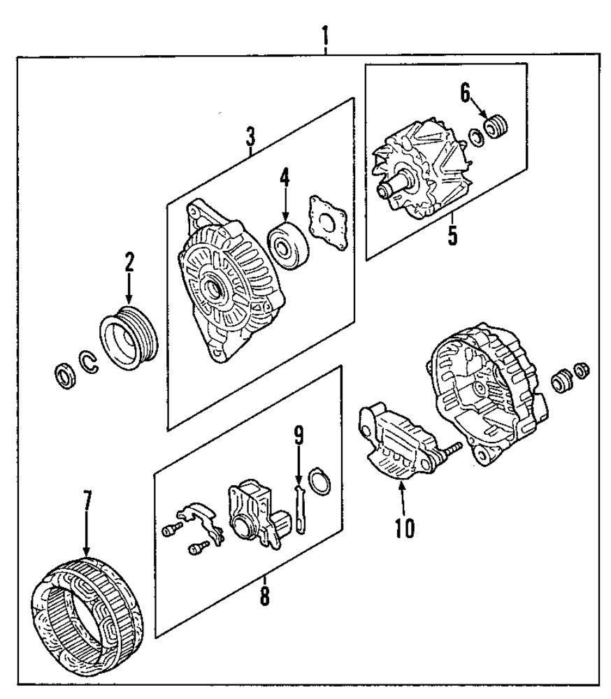 Genuine mitsubishi pulley mit md618817