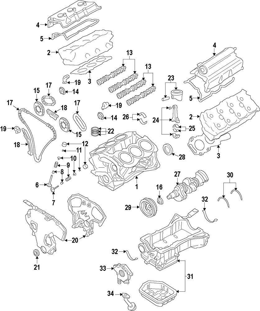 Genuine infiniti valve grind gasket kit inf a1m42jk21b