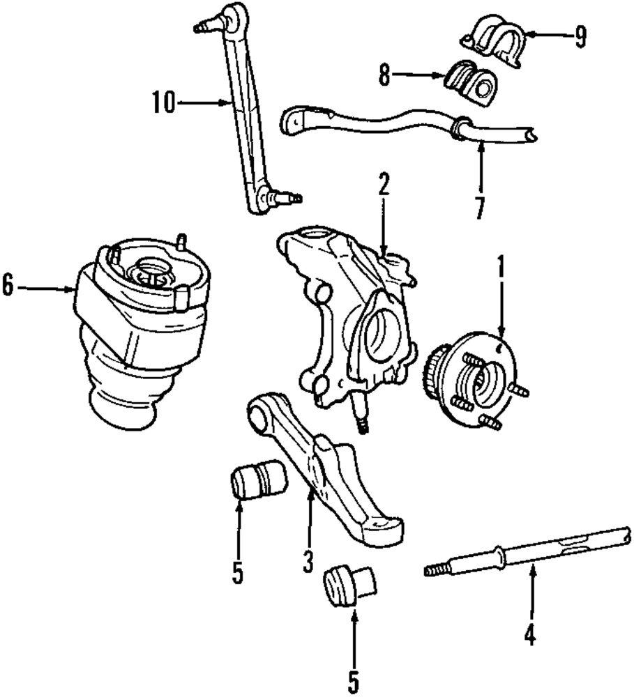 Genuine lincoln strut rod bushing lin f5oy3c067a