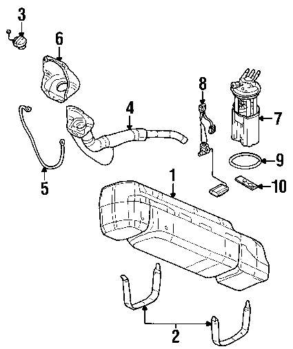 Genuine chevrolet level sensor che 25315984