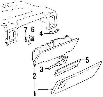 Genuine gmc glove box assy gmc 15707422