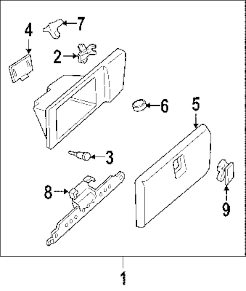 Genuine chevrolet glove box assy che 25789447