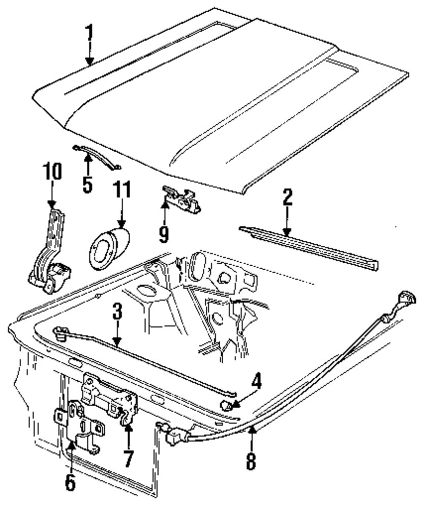 Genuine ford hood for e7zz16612a