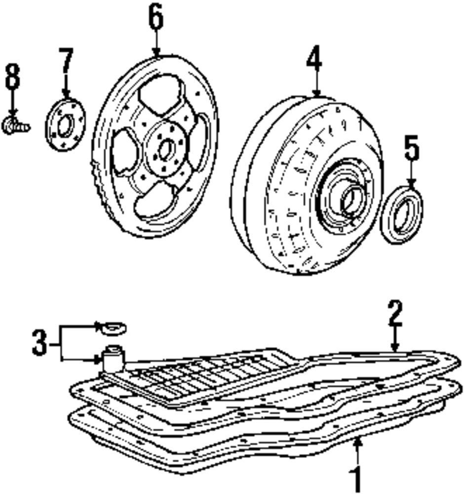 Genuine ford converter seal for 2f1z7f401aa