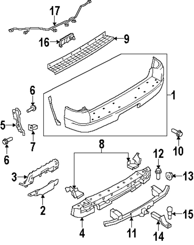 Genuine ford outer bracket for 3l2z17d942aa