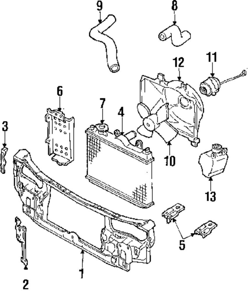 Genuine mercury radiator support mrc e8gy16138a
